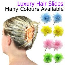 Wedding Hair Slides Flowers Grips Accessories Bridal Head Piece Ladies Pins Clip