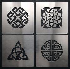 Celtic Knot amour Dara Trinity quaternaire bouclier metal Stencil Template 4 cm