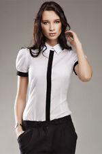 Chemisier Blanc femme chemise manches courtes Qualité K33 Nife 36 38 40 42 44