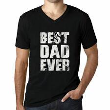 Ultrabasic Men's Graphic V-Neck T-Shirt: Best Dad Ever #1