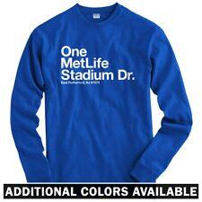 New York Football Stadium Long Sleeve T-shirt - LS Men S-4X - NY Giants Jets Fan