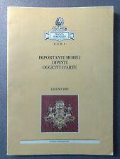 SEMENZATO FRANCO IMPORTANTI MOBILI DIPINTI OGGETTI D'ARTE ROMA GIUGNO1989