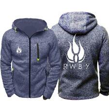 Anime RWBY 3D Print Hoodie  Full Zip Sweatshirt Casual Jacket Cosplay Coat