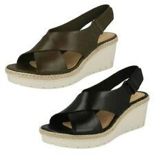 donna CLARKS tacchi con zeppa sandali con cinturino - Palma brilla