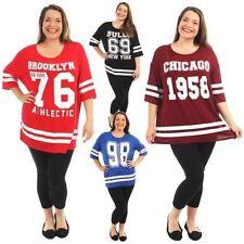 Oversize Da Donna Baggy Baseball T-Shirt manica corta Donna Top 12-26