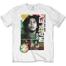 Bob Marley 56 Hope ROAD Reggae Lion Ufficiale Bianca Da Uomo T-shirt