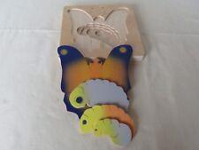 Holz Lagenpuzzle Entwicklungspuzzle Frosch Huhn Katze Schmetterling NEU