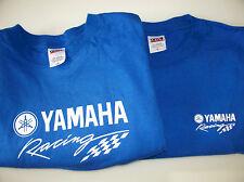 Two Yamaha Racing Screen Printed Royal T-Shirts 6 oz.100% Cotton Sm-5XL