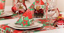 20 TOVAGLIOLI Tissue vigilia Natale decorazione tavolo Menù Stelle Cuori 33942
