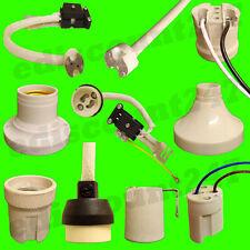 40+TYPES NEW UK REGULATION GU10 MR16 G9 G4 E14 E27 B22 Lamp Holder UK SELLER