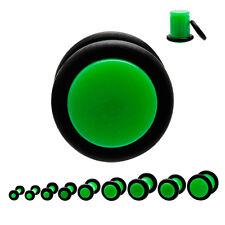 Piercing plug (tunnels ecarteur expander) vert de 1.6 mm à 8 mm