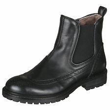 Momino 3422M Stiefeletten Chelsea Boots Lammfell Winter Stiefel Leder 33-40 Neu