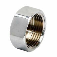 "Pipe Tube Fittings Chrome Plug Stop End Cap Cover Ending Female 3/8"" 1/2"" 3/4"""