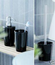 Herstal Designer 3 Piece Bathroom Set In Black