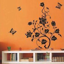 Farfalla Fiore Adesivi da parete / muro Decalcomanie / Adesivi per muro -- pd84