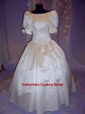 Wedding Dress Bridal sz 12 Gown #28 In Stock Ivory Satin
