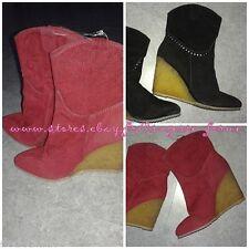 bottine velours talon compensé 10 cm botte femme chaussure PARFOIS neuf
