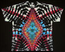 T-Shirt Gr.S - 5XL kurzarm handgefärbt Hippie Tie dye Batik Flower Power Goa NEU
