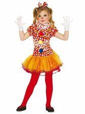 Girls Cute Clown Costume, Kids Fancy Dress Outfit