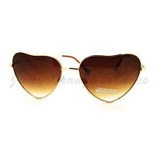 Heart Shape Sunglasses Thin Metal Frame Popular Love Shades