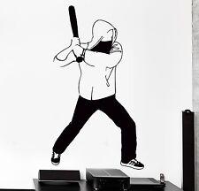 Wall Sticker Sport Street Fighter With Bat Hood Rap Vinyl Decal (z3070)