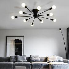 Modern Semi Flush Ceiling Lamp Industrial Metal Light Fixture Indoor Lighting