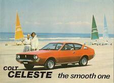 Mitsubishi Colt Celeste 1978 UK Market Sales Brochure 1600 ST GSR 2000 GT