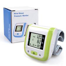 Home Digital LCD Wrist Cuff Blood Pressure Pulse Measure Meter Sphygmomanometer