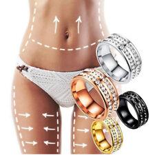 Gewichtsverlust Kristall Strass Ring Abnehmen Gesundheitswesen Ringe Magnet  JMH