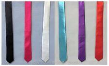 Unisex Skinny Slim Plain Tie Fancy Dress School Girl Geek St Trinians Hen Party