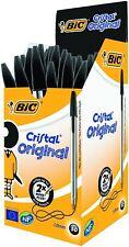 BIC Cristal Original Black Medium Longlife Ballpoint Biro Pens School Work