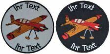 Motorflugzeug Flieger Flugzeug  Aufnäher mit Ihrem Text Verein Patch 10cm (547)