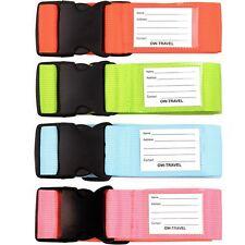 Equipaje Correa Maleta De Viaje Ajustable ✅ Cinturón de embalaje + Etiqueta de nombre personalizado