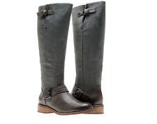 Chocolat Blu Louisa Grey Women's Knee Hi Boot