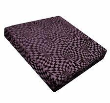 wg03t Purple Geometric Check 3D Box Shape Sofa Seat Pad Cushion Cover*Cust Size