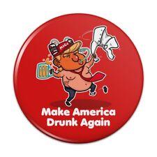 Trump Make America Drunk Again Beer Button Refrigerator Magnet