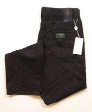 Armani Collezioni Men's J15 Regular Fit Dark Wash Straight & Tight Leg Zip Jeans