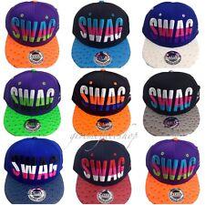 Swag snapback caps, flat peak hip hop fitted baseball hats, mens, ladies, fresh