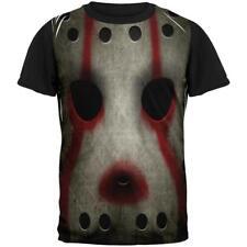 Halloween Horror Movie Hockey Mask Costume All Over Mens Black Back T Shirt