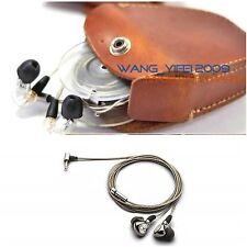 Genuine Leather Hard Case Bag For Beyerdynamic Ak T8iE & Mk Ii In Ear Headphone