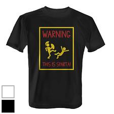 Warning This Is Sparta Herren T-Shirt Fun Shirt Spruch Spartaner 300 Kampfsport