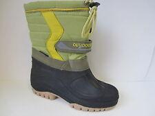 Ladies Green/ Black Pull On Damen Galosh Winter/Snow Boots