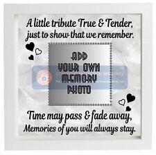Vinyl Sticker for DIY Frame A LITTLE TRIBUTE TRUE & TENDER add own photo Memory