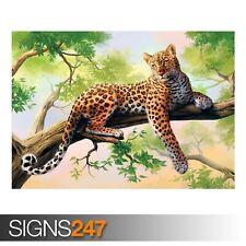 Leopard ARTE (3369) Animale POSTER-Foto Poster Arte Stampa A0 A1 A2 A3 A4