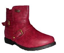 Neu American Club Mädchen Stiefel Boots Winterschuhe Stiefeletten Halbschuhe Rot