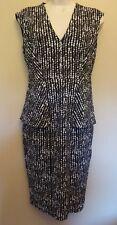 Marks & Spencer Collection UK8P 10P EU36P 38P US4P 6P new grey-mix peplum dress