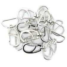 10pcs drehbarer Karabinerhaken mit Schlüsselring Schlüsselanhänger Silber