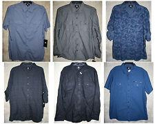 NWT Rock & Republic shirt Colors Patterns 1 2 Pocket Button-Front Cotton mens