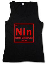NIN DAMEN TANK TOP Tendium Element Periodic Table NES Games Joystick Retro Video
