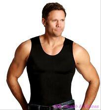 INSTASLIM Men's Muscle Tank Compression  T-Shirt - Black - S-3XL Insta Slim
